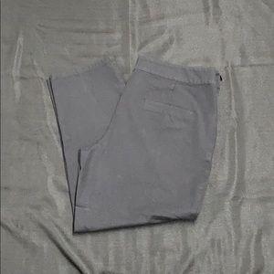 Isaac Mizrahi Live black tapered stretch pants